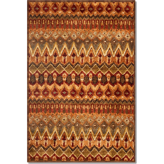 Rugs - Napa Zigzag 5' x 8' Area Rug - Red and Beige