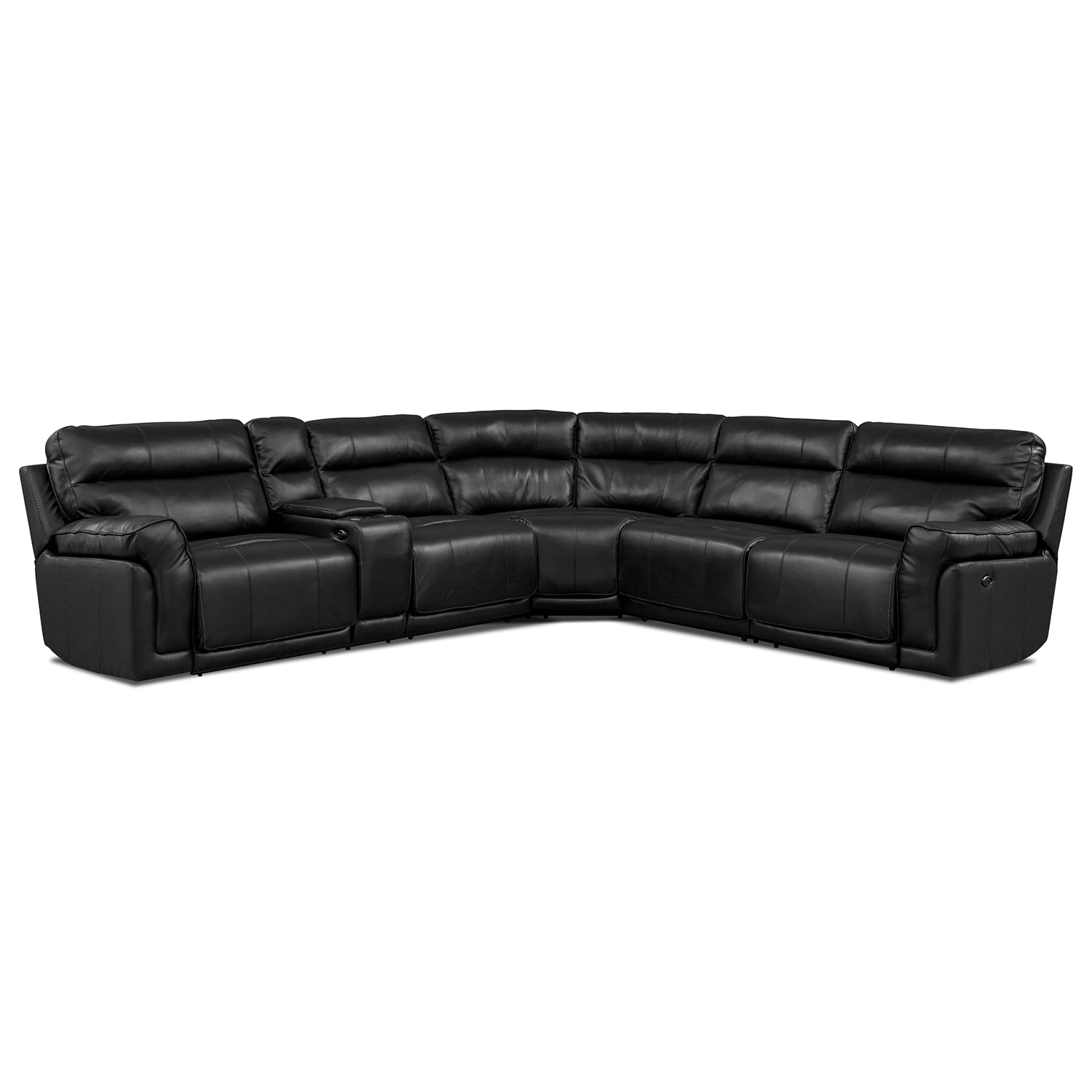 [Voyager 4 Pc. Power Reclining Sectional with Music Console]