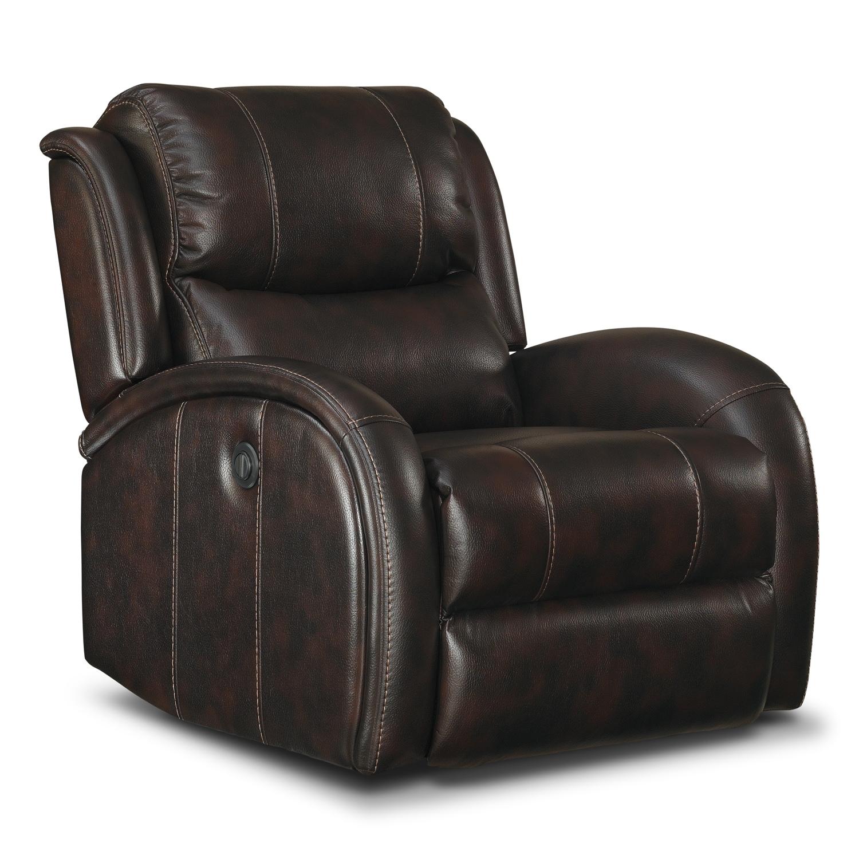 Living Room Furniture - Corsica Power Recliner - Walnut