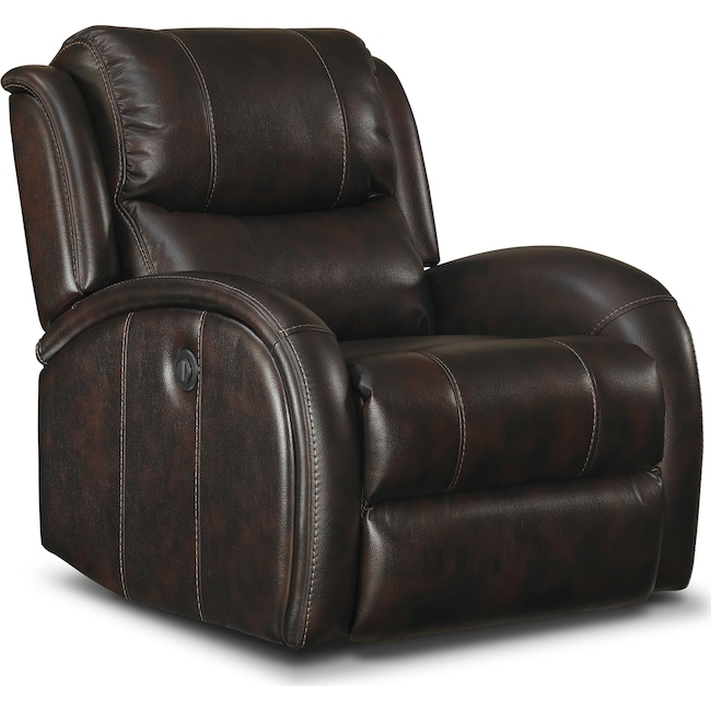 Living Room Furniture - Corsica Power Recliner - Walnut
