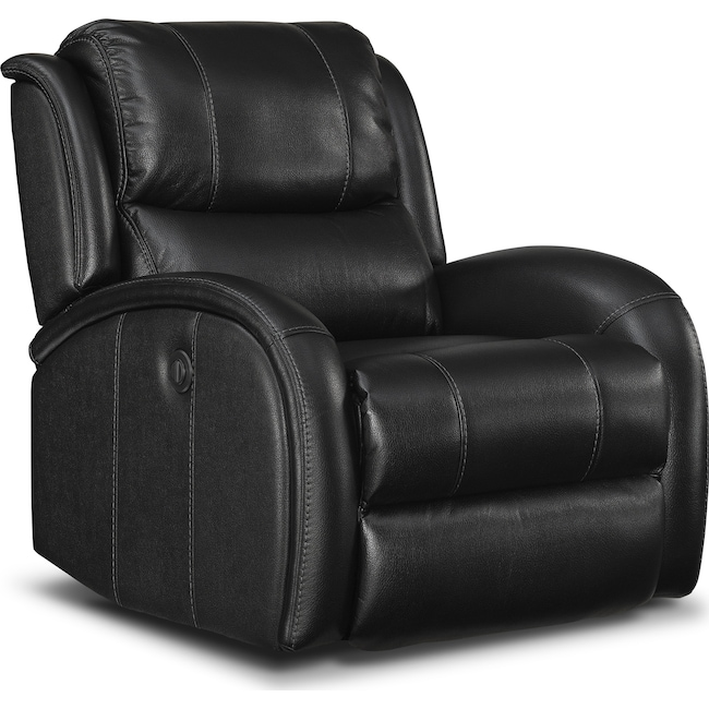 Living Room Furniture - Corsica Power Recliner - Black