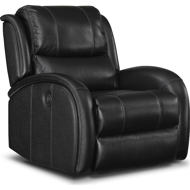 Living Room Furniture - Corsica Power Recliner - Black