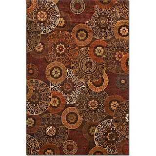 Sonoma Tyler 5' x 8' Area Rug - Red and Chocolate