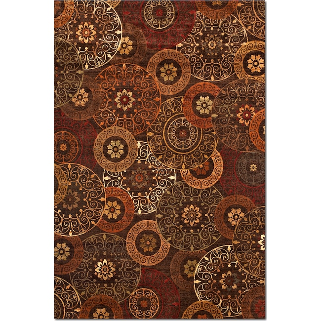 Rugs - Sonoma Tyler Area Rug - Red and Chocolate