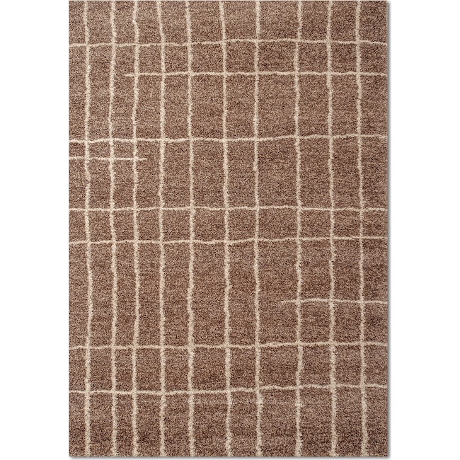Rugs - Granada Camille 5' x 8' Area Rug - Brown and Ivory