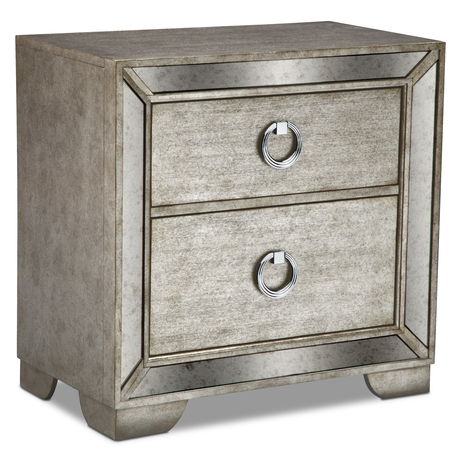 Angelina Nightstand - Metallic