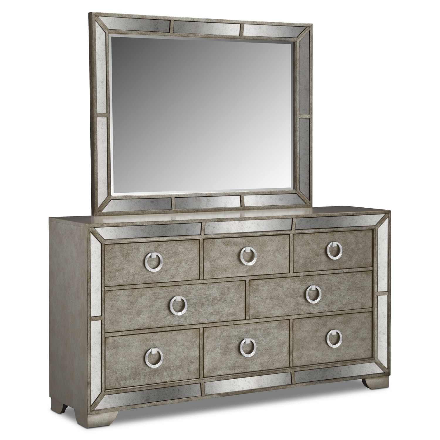 Angelina Dresser and Mirror   Metallic by Pulaski. Angelina Dresser and Mirror   Metallic   American Signature Furniture