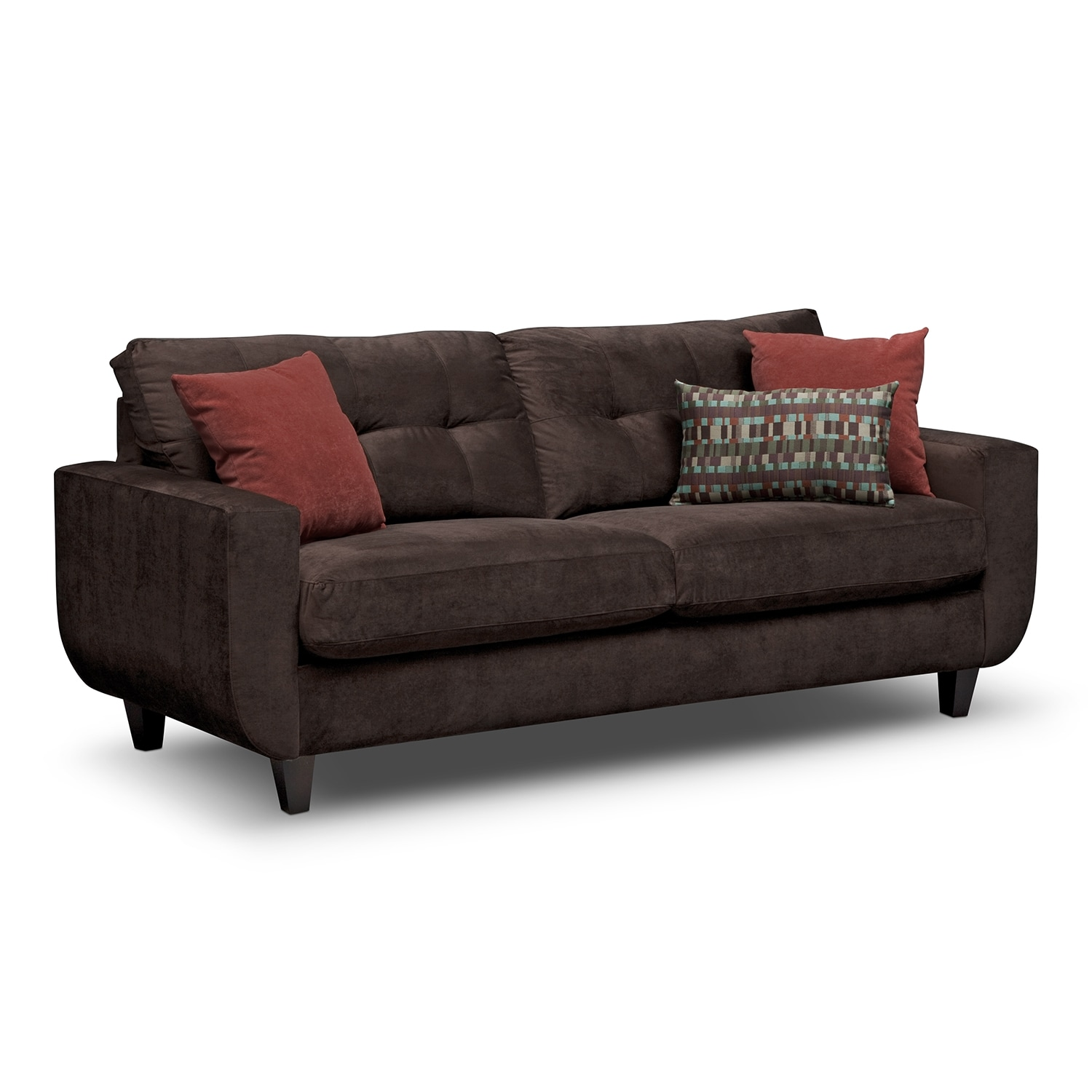 Living Room Furniture - West Village Sofa - Chocolate