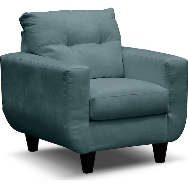 Living Room Furniture - West Village Chair - Blue