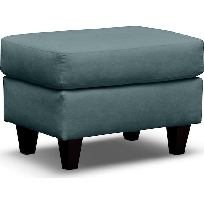 Living Room Furniture - West Village Ottoman - Blue