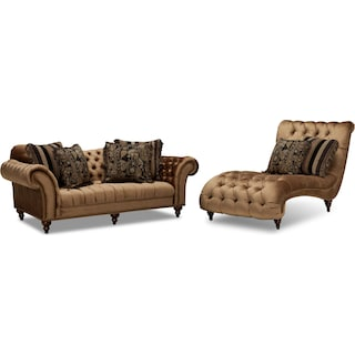 Brittney Sofa and Chaise Set