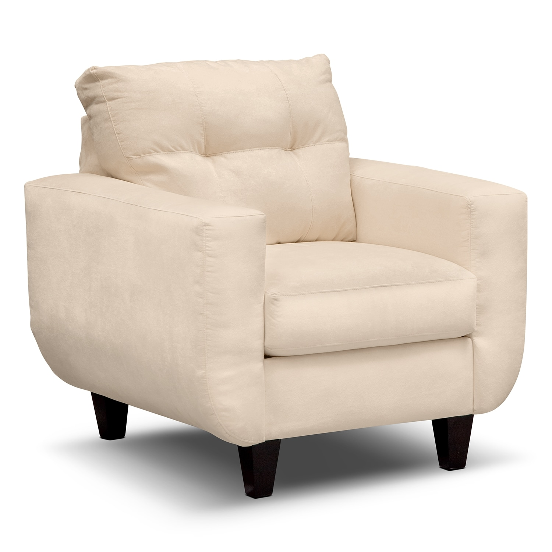 Living Room Furniture - West Village Cream Chair
