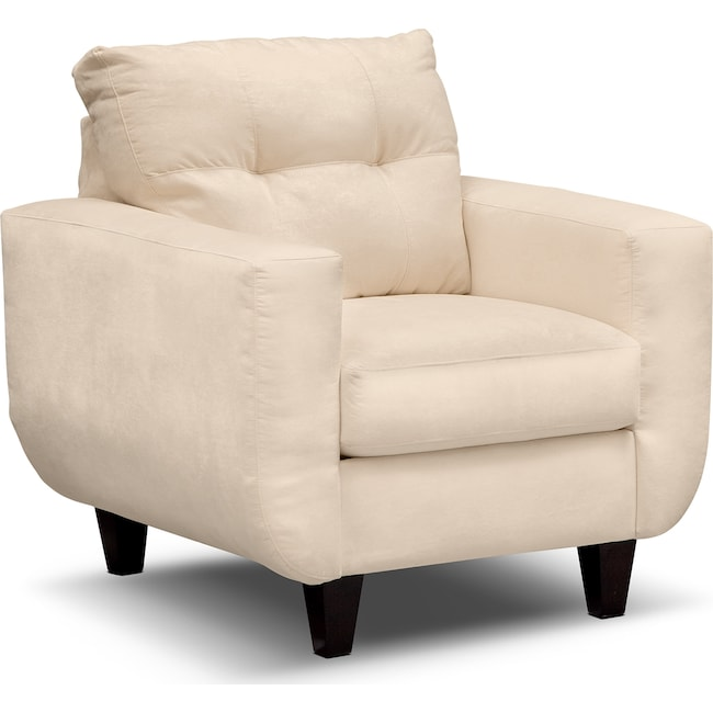 Living Room Furniture - West Village Chair - Cream