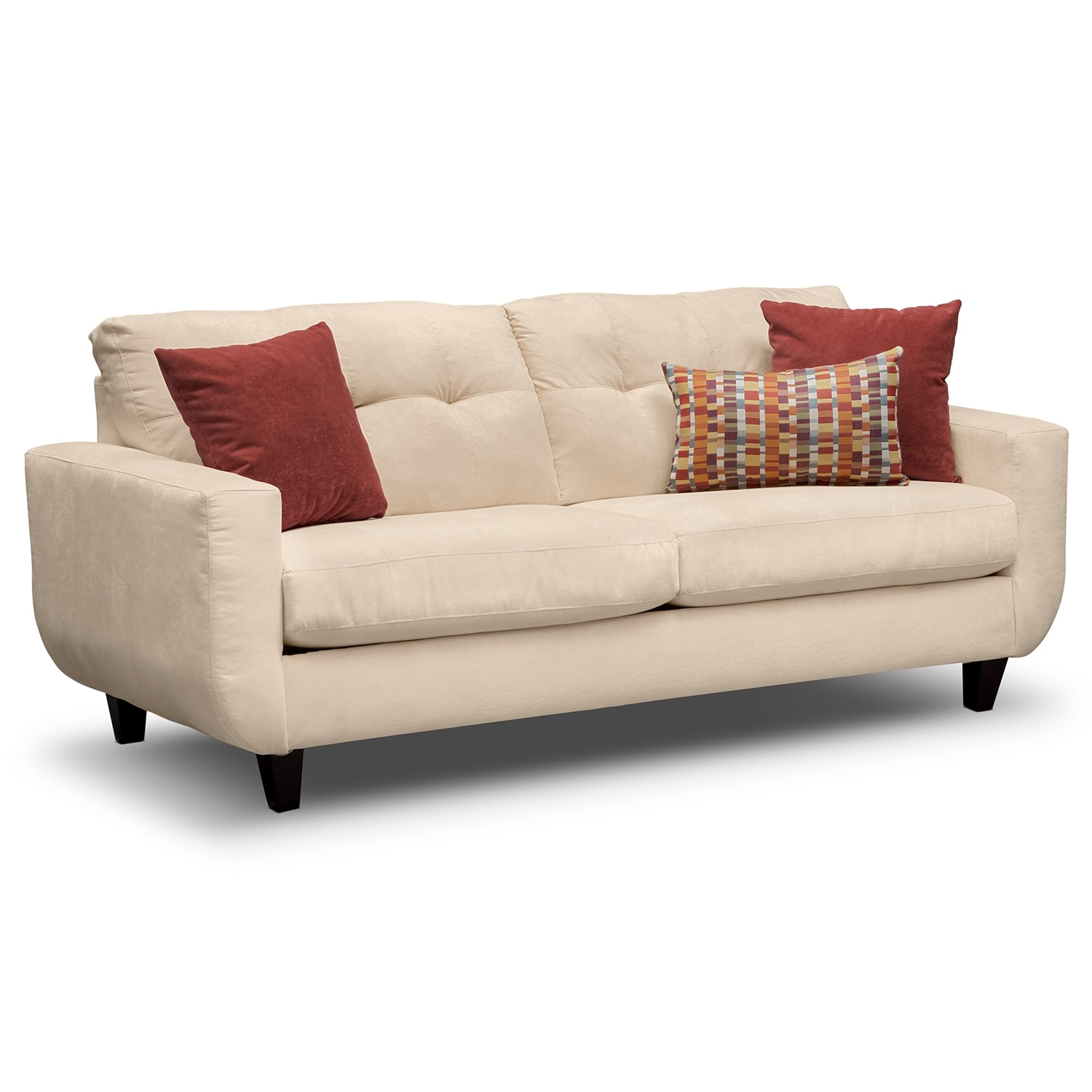 Living Room Furniture - West Village Cream Sofa