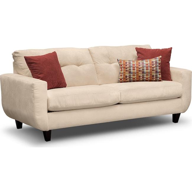 Living Room Furniture - West Village Sofa - Cream