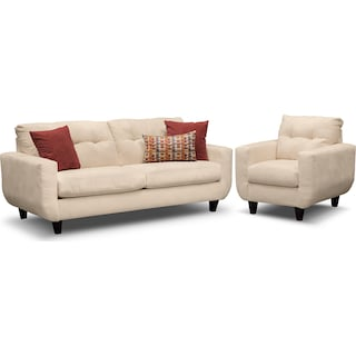 West Village Sofa and Chair - Cream