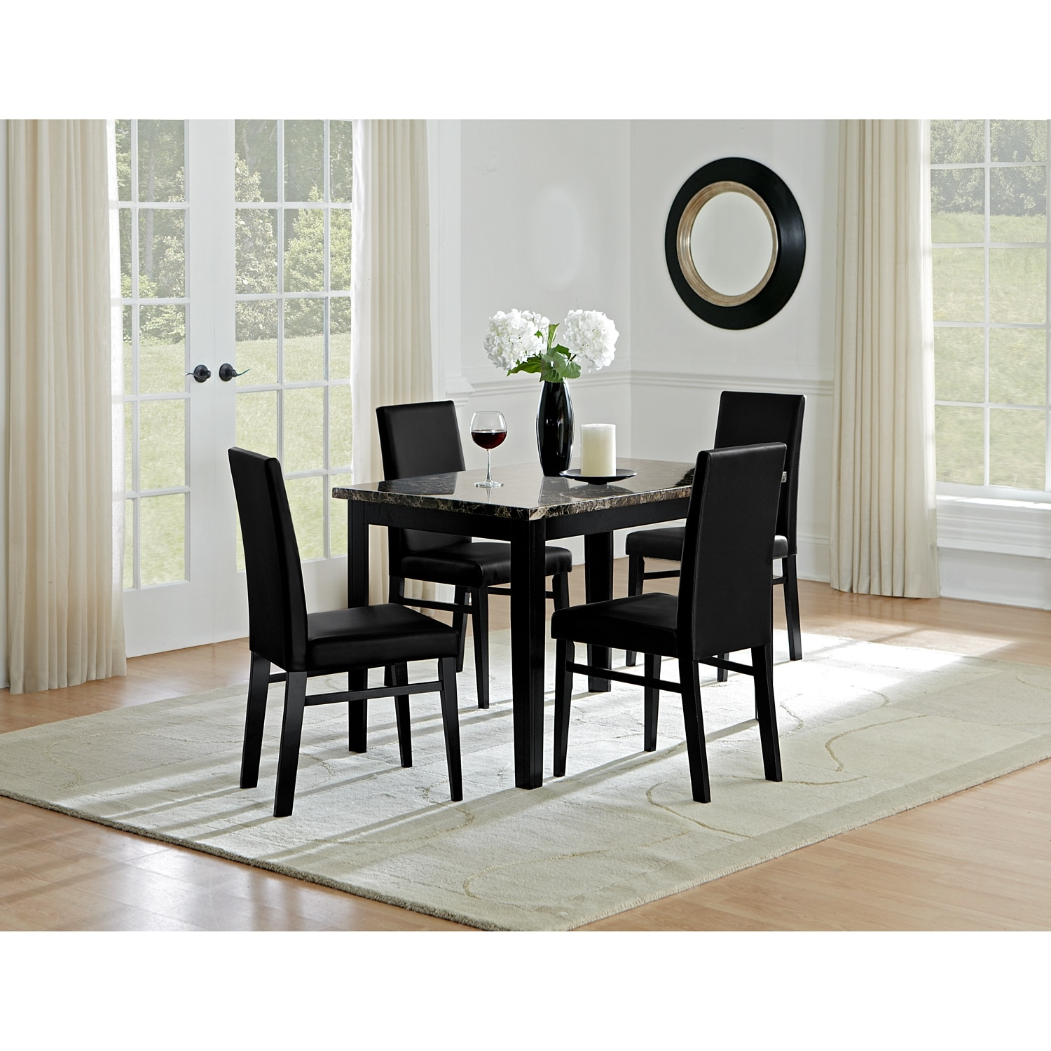 Shadow Dining Table Black American Signature Furniture