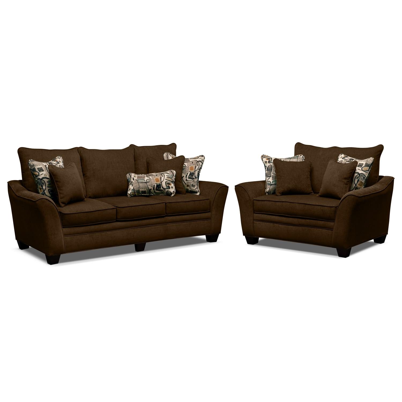 Living Room Furniture - Mandalay 2 Pc. Living Room w/Chair