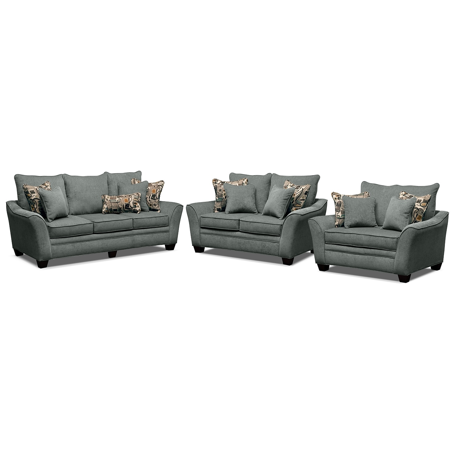 Living Room Furniture - Mandalay II 3 Pc. Living Room