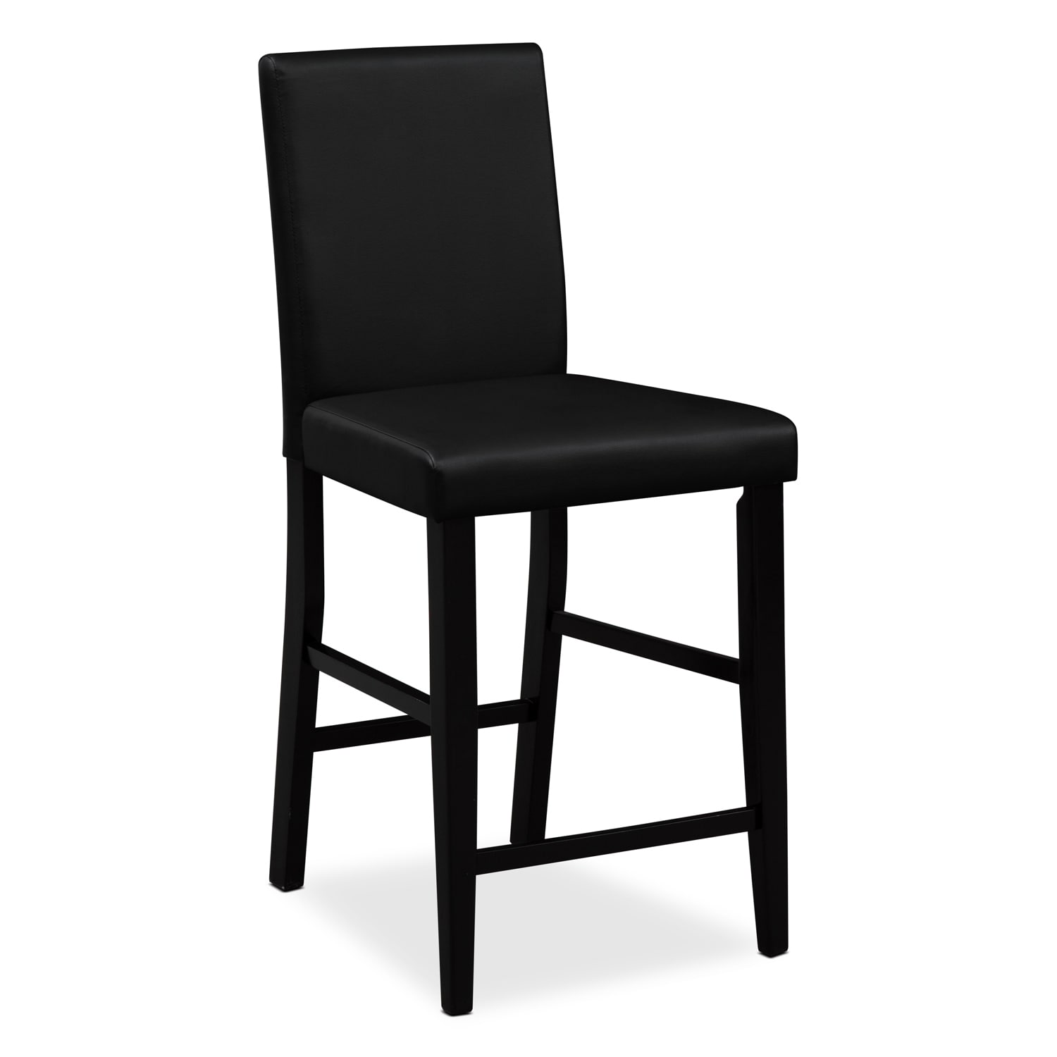 shadow counter height table and 4 chairs black