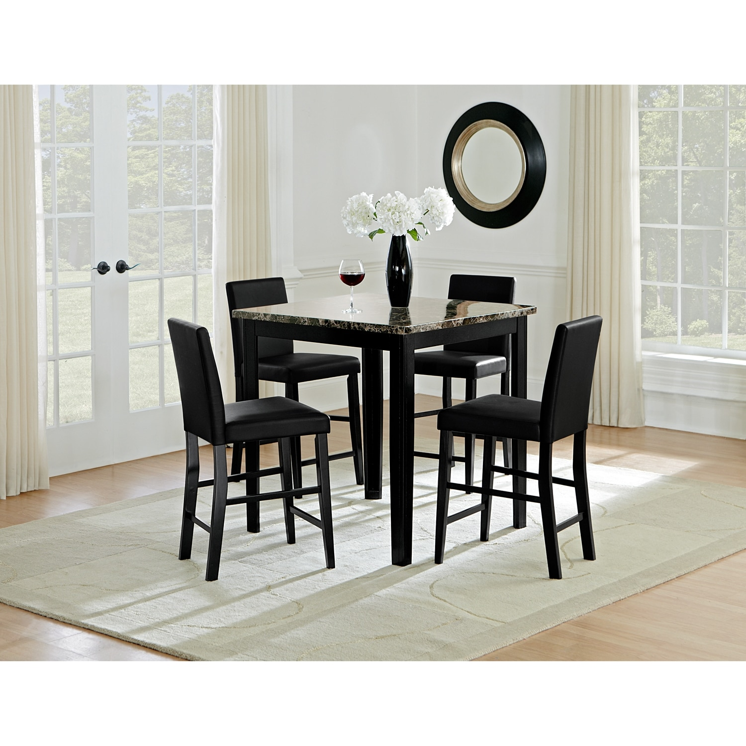 Shadow Counter-Height Dining Table - Black | American Signature ...