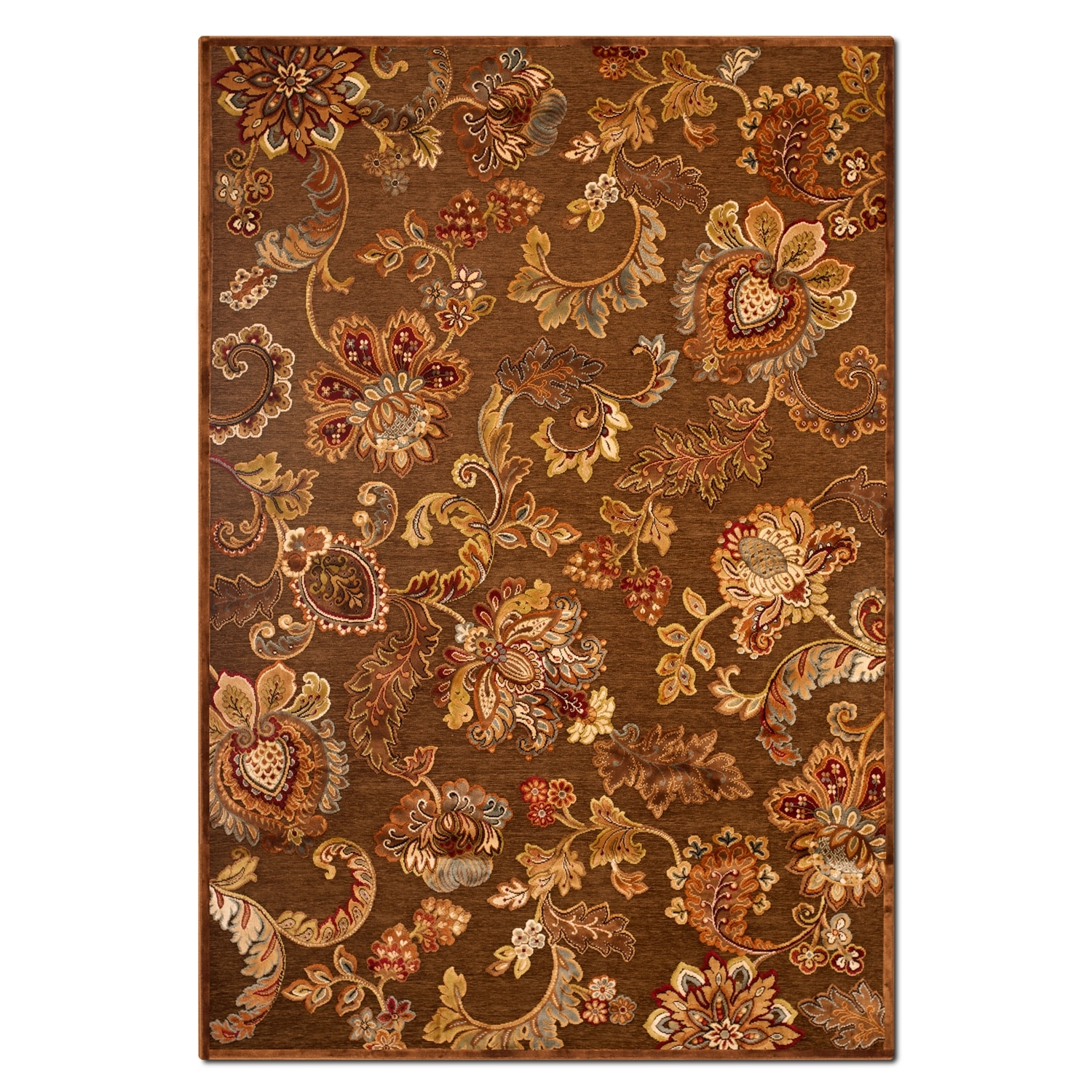 Rugs - Napa Meadow 8' x 10' Area Rug - Medium Brown and Rust