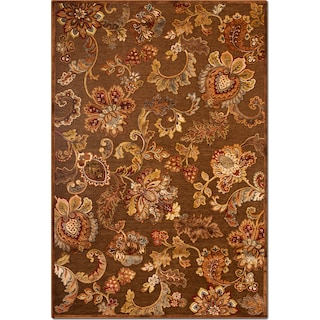 Napa Meadow 8' x 10' Area Rug - Medium Brown and Rust