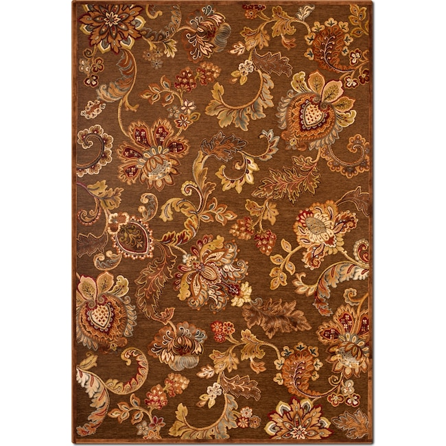 Rugs - Napa Meadow 5' x 8' Area Rug - Medium Brown and Rust