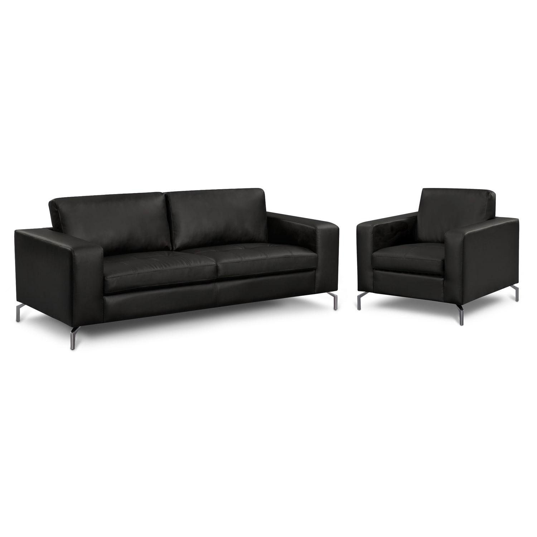 Living Room Furniture - Casino II 2 Pc. Living Room w/Chair