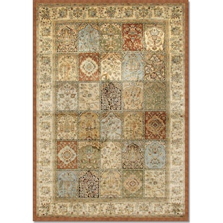 Sonoma Mosaic 5' x 8' Area Rug - Rust and Sage