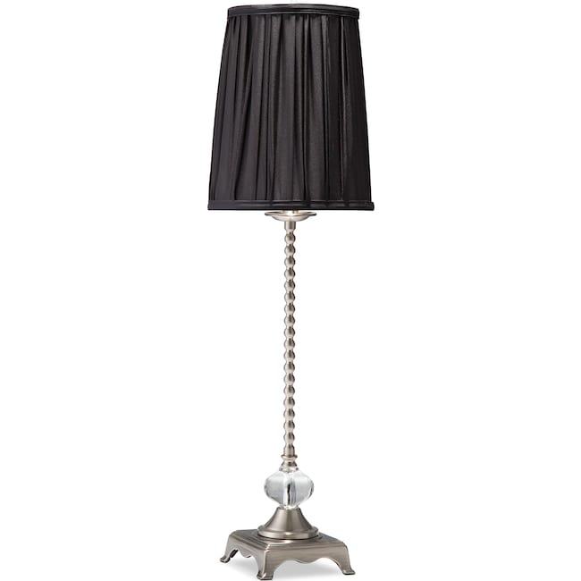 Home Accessories - Black Glass Buffet Lamp