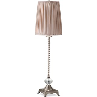 Crème Glass Buffet Lamp
