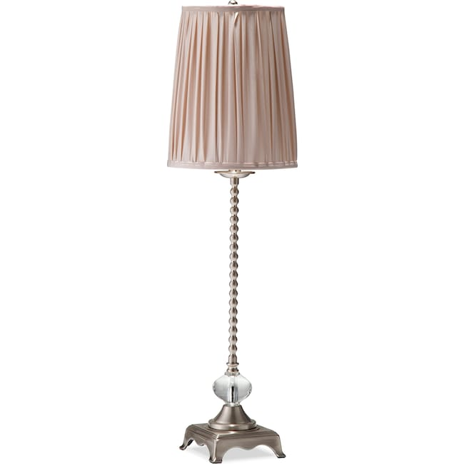 Home Accessories - Crème Glass Buffet Lamp