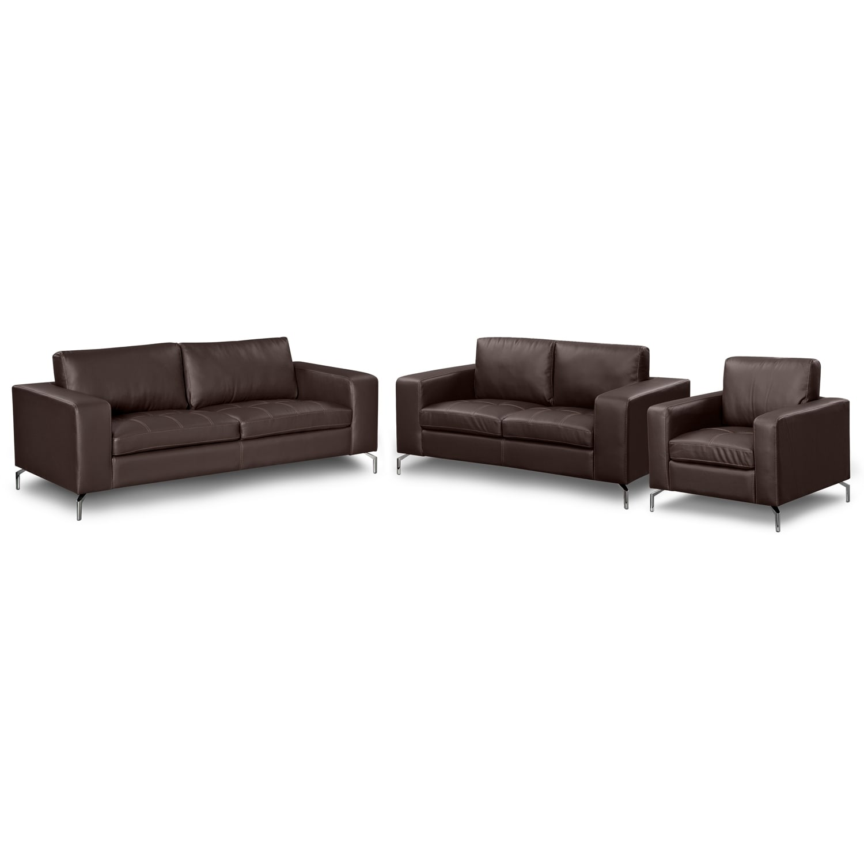 Living Room Furniture - Casino III 3 Pc. Living Room