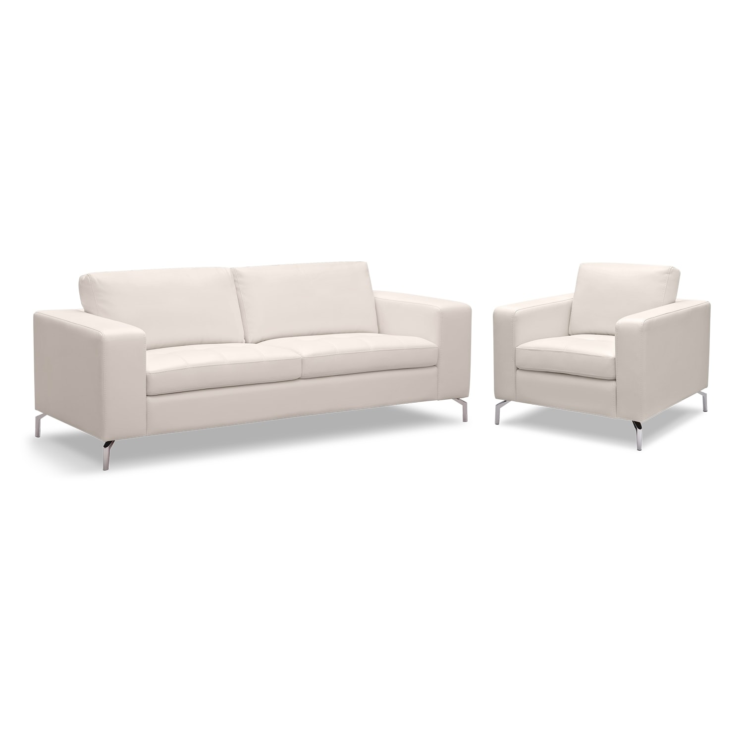 Living Room Furniture - Casino 2 Pc. Living Room w/Chair