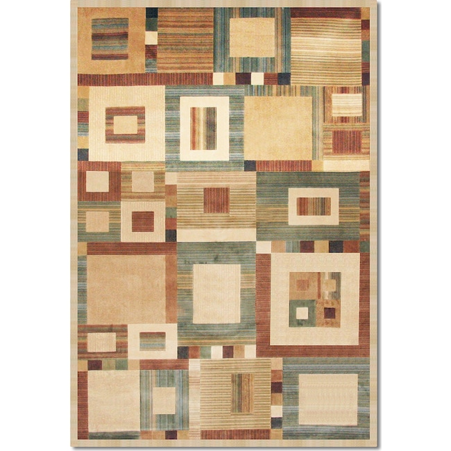Rugs - Sonoma Ardyce 5' x 8' Area Rug - Rust and Beige
