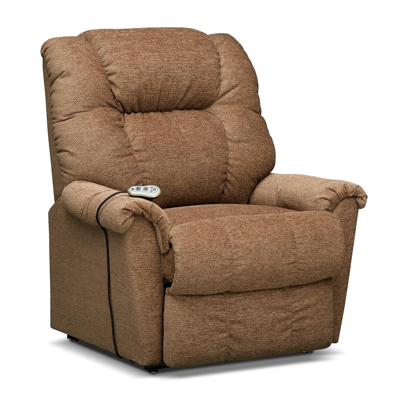 Living Room Furniture - Vantage Medium Power Lift Massage Chair - Bark