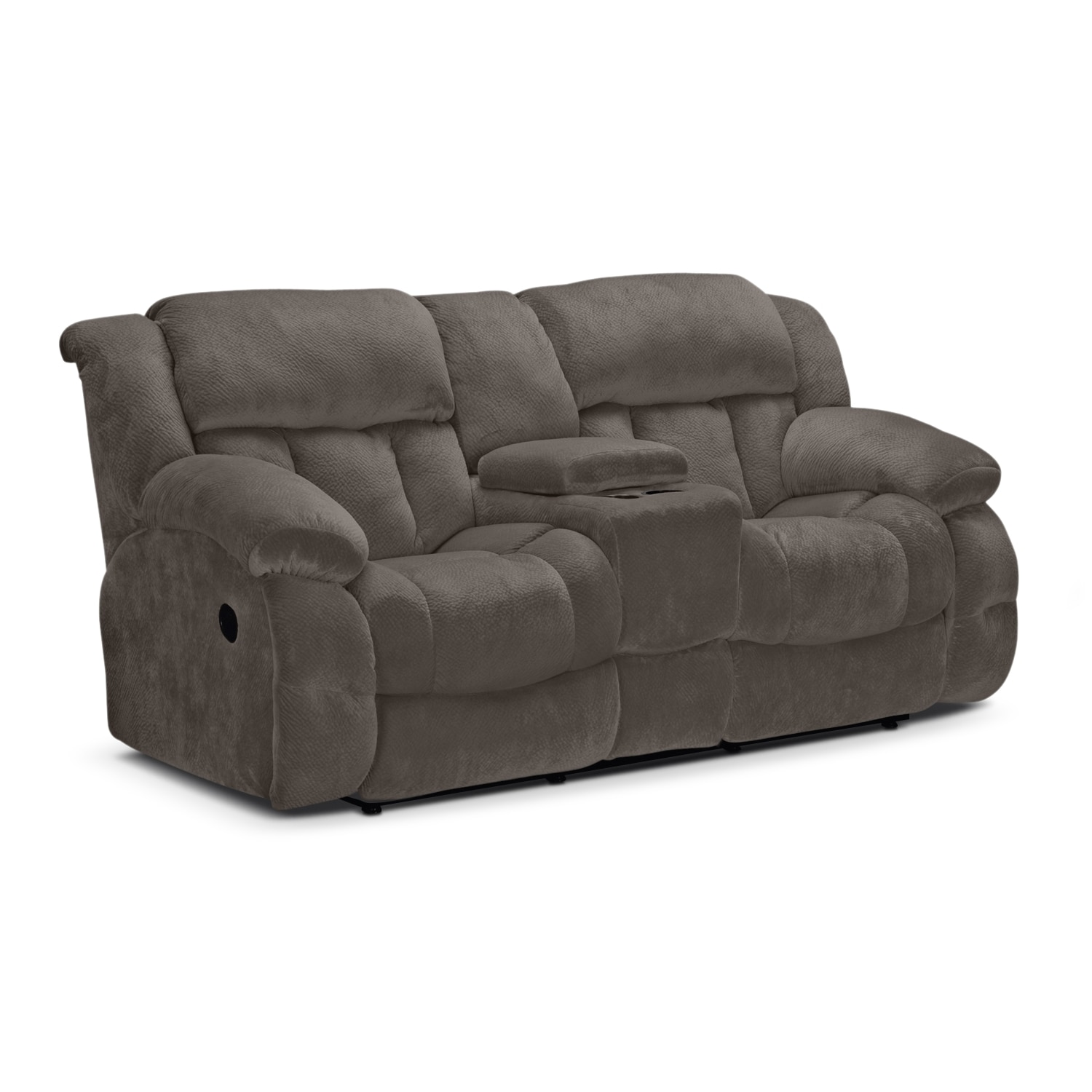 Park City Dual Reclining Sofa Loveseat and Glider Recliner Set