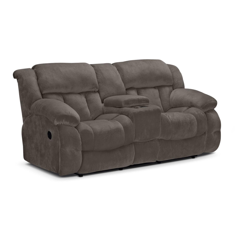 Park City Dual Reclining Sofa and Loveseat Set Gray
