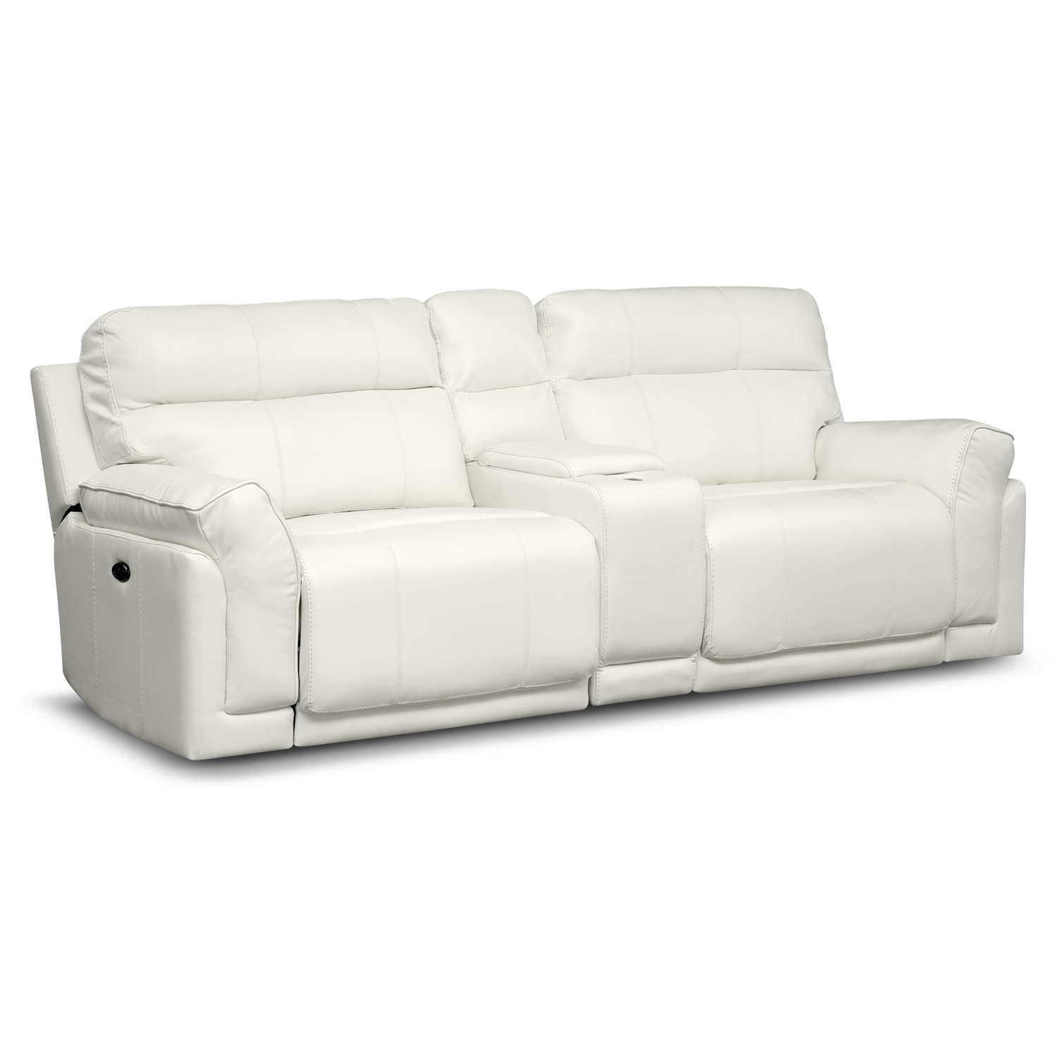 [Voyager II 3 Pc. Power Reclining Sofa with Console]