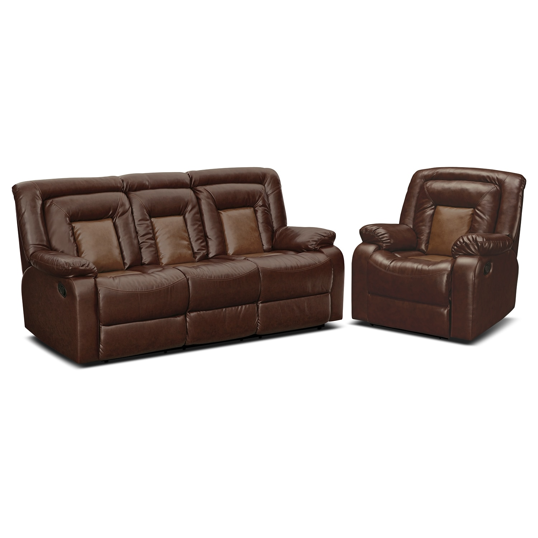 Living Room Furniture - Cobra 2 Pc. Reclining Living Room w/Recliner