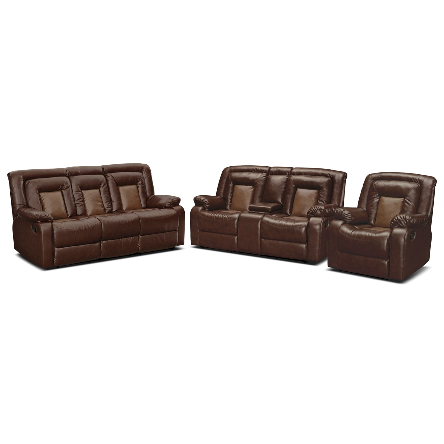 Living Room Furniture - Cobra 3 Pc. Reclining Living Room