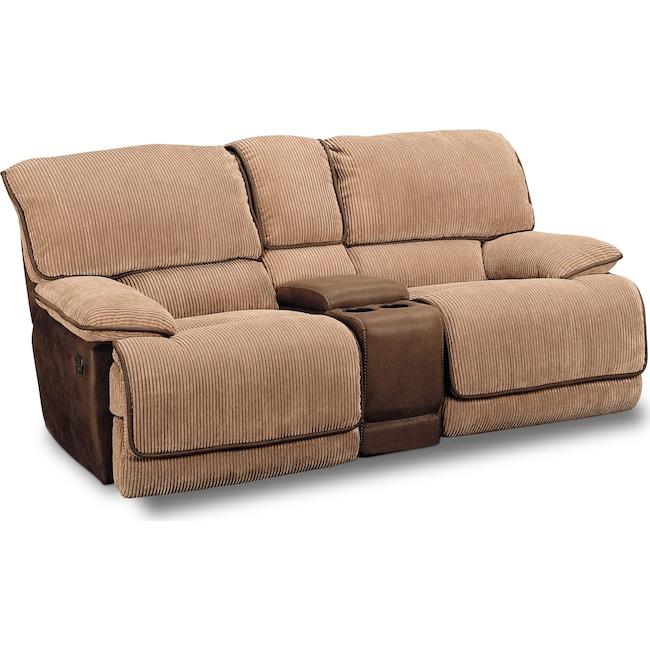 Living Room Furniture - Laguna Gliding Reclining Loveseat - Camel