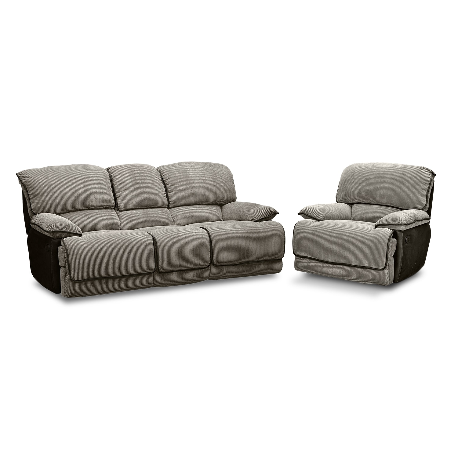 Laguna Dual Reclining Sofa Steel American Signature Furniture