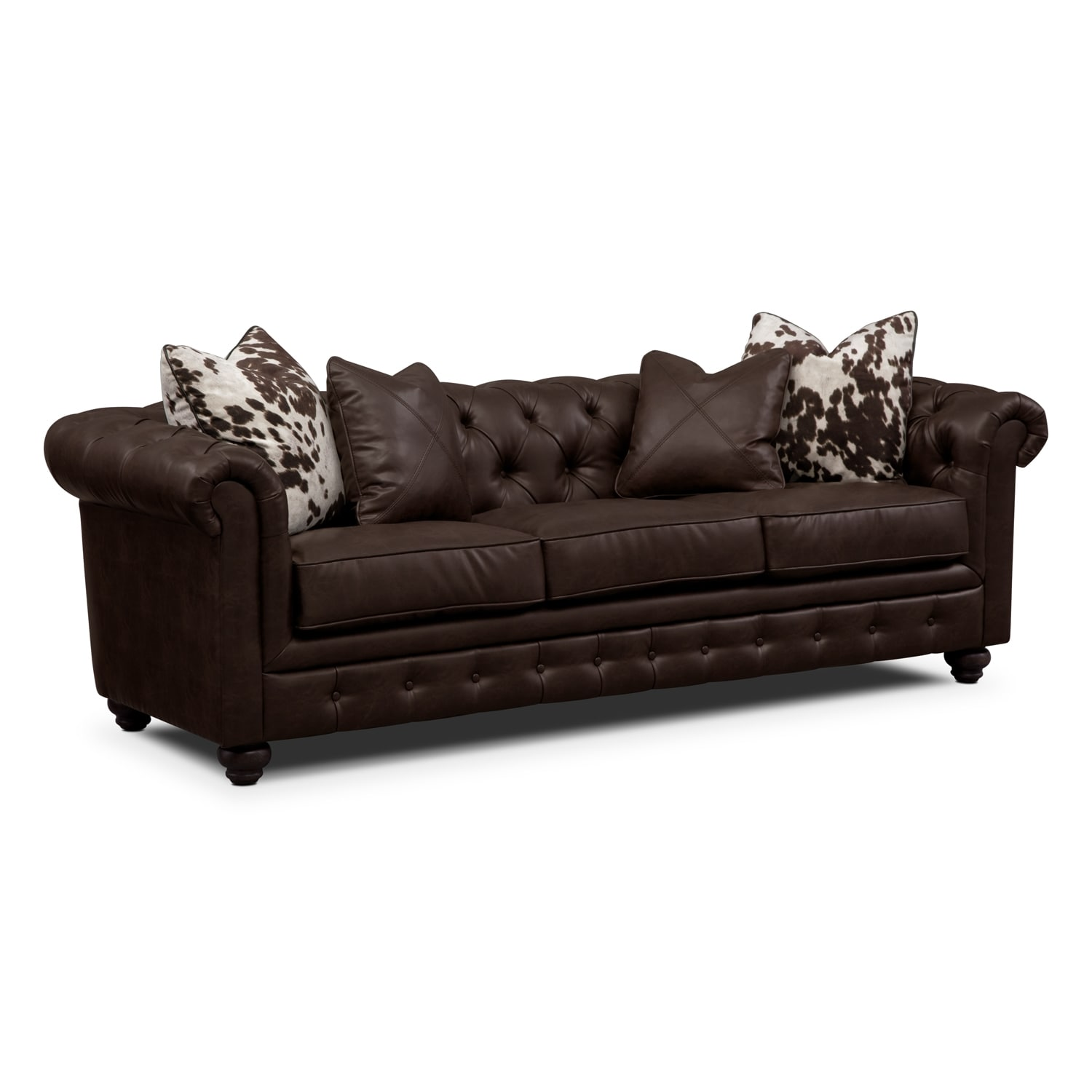 Living Room Furniture - Madeline Sofa - Chocolate