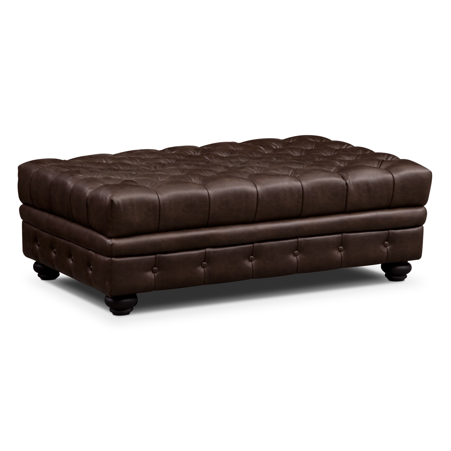 Madeline Chocolate Storage Ottoman