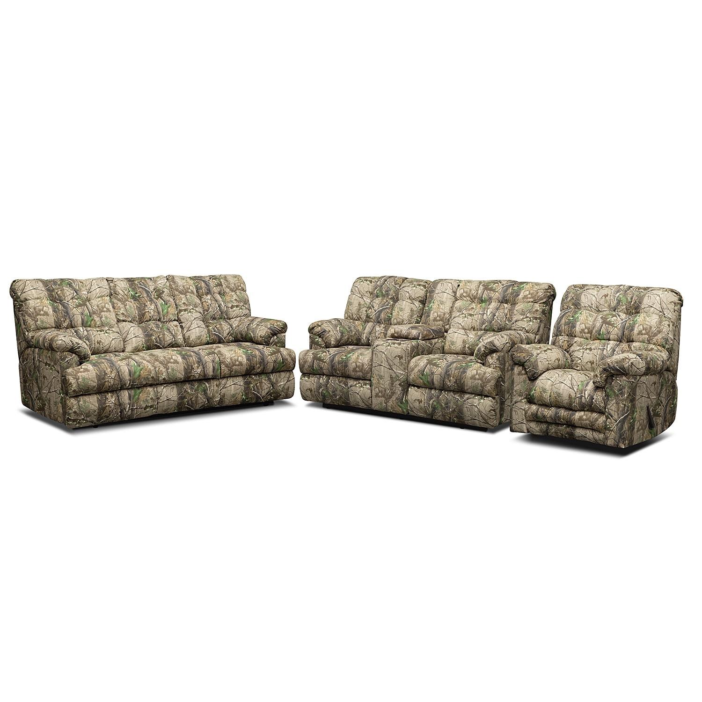 Living Room Furniture - Jasper Bay 3 Pc. Reclining Living Room