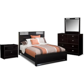 Bally 6-Piece Queen Bedroom Set - Black