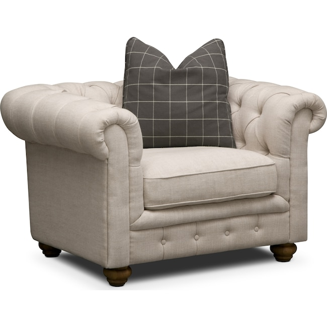 Living Room Furniture - Madeline Chair - Beige