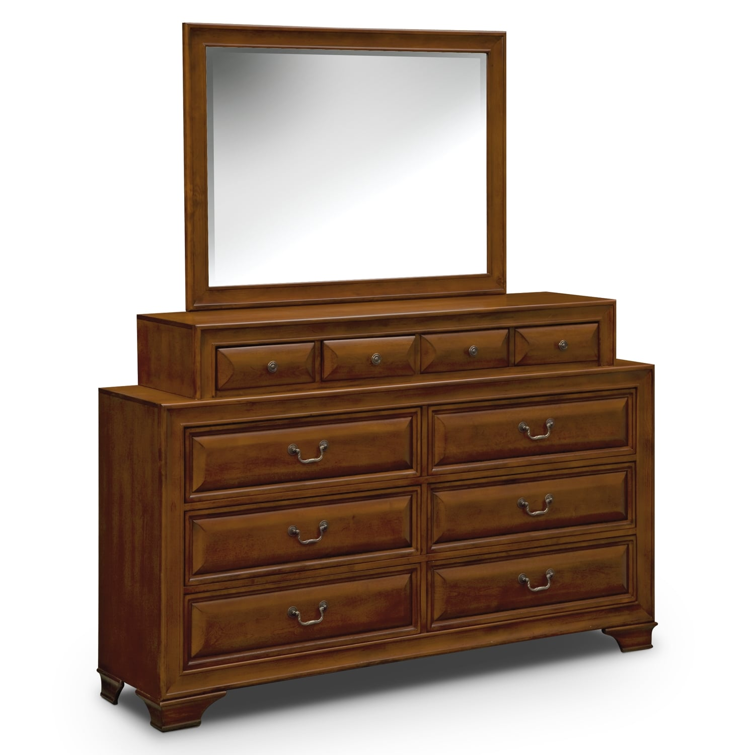 Sanibelle Dresser and Mirror - Pine